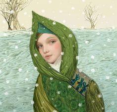 Illustration by Inna Kapustenko. Art And Illustration, Gustav Klimt, Looks Cool, Contemporary Artists, Amazing Art, Portraits, Fine Art, Drawings, Paintings