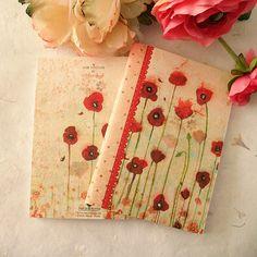 "Mini notebook ""Poppies"" by Minasmoke on Etsy, $5,50"