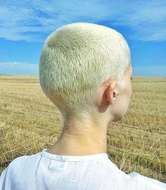 The soft breeze on buzz cut heads. Super Short Hair, Short Hair Cuts, Short Hair Styles, Girls With Shaved Heads, Shaved Head Women, Buzzed Hair, Hair Trends 2015, Shaved Hair Designs, Wavy Hair Men