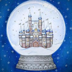 Snowglobe Johannaschristmas Johannabasford Repost Creativecoloring Coloringforadults Christmascoloring Christmas Coloring Secrets