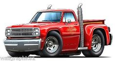 1979 Dodge Truck Lil Red Express Pickup Wall Decal Sticker Graphic ...