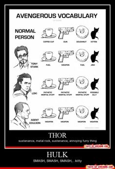 Avenger's Vocabulary.