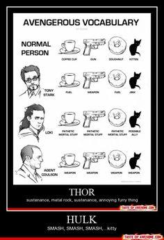 Avenger's Vocabulary - haha