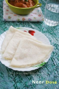 How to make Neer Dosa with and without coconut with step by step photos, no fermentation