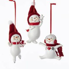 SNOW GIGGLES WINTER FRIEND SNOWMAN ORNAMENT 3A