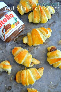 My 3-Ingredient Nutella Croissants are a force to be reckoned with! Buttery, flaky and irresistible, they're loaded up with gooey, rich Nutella spread. The best!