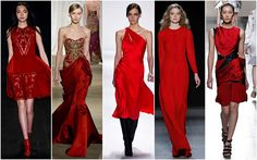 Red Hot. Definitely not one for fall, red sizzled on the runways of Jason Wu, Pamella Roland, DKNY, Tracy Reese and Jenny Packham. - Jill Stuart, Marchesa, J.Mendel, Giuletta and Prabal Gurung