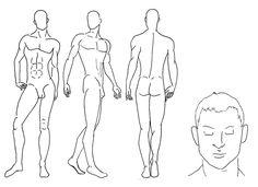 Male croquis worksheet 4 by ~Cirk-Us on deviantART