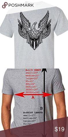 1372800106501 American Patriotic USA Vintage Eagle Flag Men s American Eagle Flags Men s  Gray T-Shirt