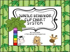 Jungle Theme Complete Clip Chart System - I WANT!