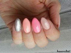 Semilac: 093 - Silver Dust, 130 - Sleeping Beauty, 131 - Lovely Mickey, 054 - Pale Beach Glow
