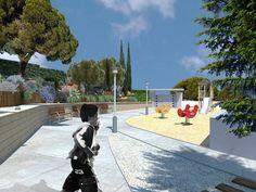 #dibuix en #3D del #disseny d'un #jardí comunitari  www.tallerdepaisatge.com