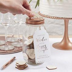 Livre d'or bocal en verre - Alternative au livre d'or pour un mariage original.