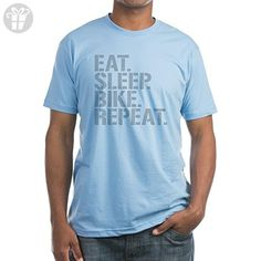 CafePress - Eat Sleep Bike Repeat T-Shirt - Fitted T-Shirt, Vintage Fit Soft Cotton Tee (*Amazon Partner-Link)