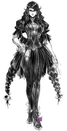 Octopath Traveler, Bayonetta, Popular Culture, Female Characters, Inktober, Concept Art, Fan Art, Silhouette, Metal