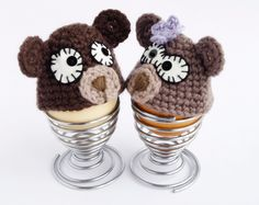 Bear Egg cozy, hat Crochet Kitchen accessory hat by CocoFlower