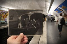 Ce photographe a trouvé des photos de Paris prises entre 1871 et 1968, et a ensuite photographié le même lieu du même angle.