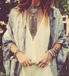 Boho look - how I need that necklace x