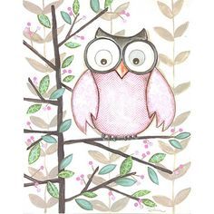 'One Pink Owl' by Dimples & Dandelions