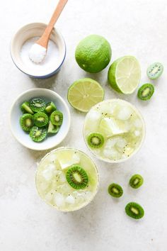 Pin for Later: Cocktails and More: Recipes That Start With a Bottle of Tequila Kiwi Margaritas Get the recipe: kiwi margaritas Summer Cocktails, Cocktail Drinks, Cocktail Recipes, Drink Recipes, Margarita Cocktail, Salad Recipes, Roast Recipes, Chicken Recipes, Lasagna Recipes