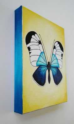 Butterfly Painting Original Acrylic on canvas by DanielleContiArt