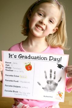 Make sure you keep your memories! This Preschool Graduation Certificate is a wonderful printable.