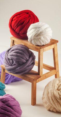 SUPER SALE! Chunky yarn, 18 microns Merino wool yarn, Super bulky yarn, Giant yarn, Thick yarn, Premium wool, DIY Knitting, Express Shipping