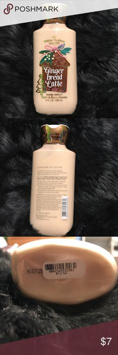"""Bath & Body Works Lotion - In the scent """"Gingerbread Latte"""" - Brand new, never used!  - Retails for $12.50 - Price is FRIM! Bath & Body Works Other"""