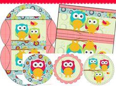 AMÉ los Kits Imprimibles de búhos  de @Mami Kanguro  http://mamikanguro.com/kits.php