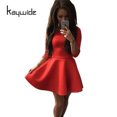 >> Click to Buy << Kaywide New 3/4 Sleeve Women Sexy Casual Dress Tunic Bodycon Autumn Work Office Dresses Fashion Elegant Party Vestidos Clothing #Affiliate