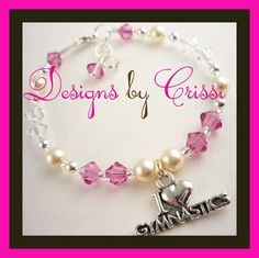 I love Gymnastics bracelet -choose size
