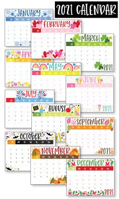 Free Calender, Free Printable Calendar Templates, Cute Calendar, Kids Calendar, 2021 Calendar, Printable Planner, Free Printables, Calendar Ideas, Monthly Planner