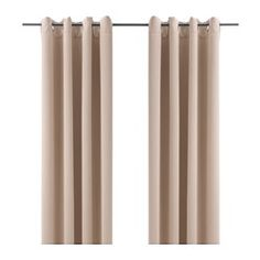 IKEA - BOLLOLVON, Block-out curtains, 1 pair, The curtains prevent most light from entering and provide privacy by blocking the view into the room from outside.The eyelet heading allows you to hang the curtains directly on a curtain rod.