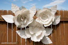 DIY Paper Leaves / Hojas de Papel | AvantiMorocha Blog
