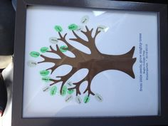 Teacher appreciation thumb print tree This is hands down the best teacher gift I have every received!! Thank you Jackie!!