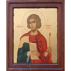 St Phanourios icon. ΑΓΙΟΣ ΦΑΝΟΥΡΙΟΣ, ΜΕΤΑΞΟΤΥΠΙΑ Queer Art, Orthodox Icons, Saints, Greek, Painting, Santos, Painting Art, Paintings, Paint