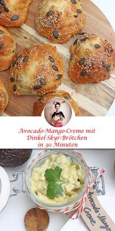 Dinkel-Skyr-Brötchen und Avocado-Mango-Creme - In 30 Minuten