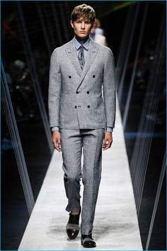 Canali takes a textured approach to soft tailored suiting for spring-summer 2017.