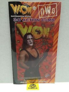 (TAS004119) - WWE WWF WCW NWO Wrestling 3-D Action Card Sting