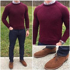 New Moda Casual Masculina Outfits Menswear 33 Ideas Chinos Men Outfit, Stylish Men, Men Casual, Red Sweater Outfit, Mens Red Sweater, Traje Casual, Mode Man, Style Masculin, La Mode Masculine