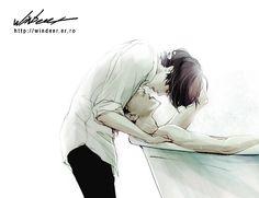 FanArt || hunhan (EXO) Autora: Windeer Créditos a su respectiva autora que a decir verdad los fanart's son hermosos pero no entiendo nada de los comentarios.