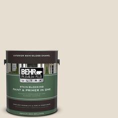 BEHR Premium Plus Ultra 1-gal. #750C-2 Hazelnut Cream Semi-Gloss Enamel Exterior Paint