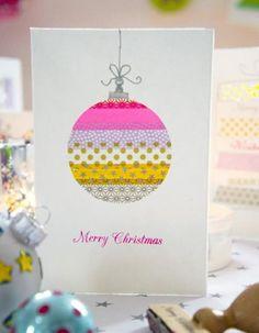 weihnachtskugel weihnachtskarten selber basteln