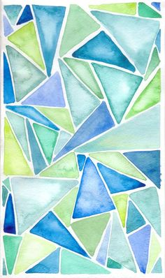 I Have Cracked Open my Watercolors Dear Chicago House, Can you guess what I have been doing? I am continuing on my quest to create artwork for your bare walls. Here is a little warm up exercise. I like abstract patterns .probably som Abstract Pattern, Abstract Art, Water Color Abstract, Geometric Painting, Abstract Paintings, Beginner Painting, Painting Ideas For Beginners, Painting Tutorials, Painting Tips