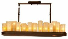 1602OZ Plateau 25LT Candle Tray Linear Pendant, Olde Bronze Finish with Beige Glass - Amazon.com