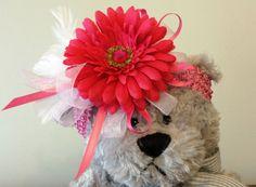 Girls Hot Pink Flower Headband by GigisFlowerFancy on Etsy, $8.00