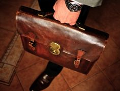 a leather briefcase (I miss these days)