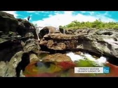 This rare, breathtaking rainbow river is the only one of its kind on Earth! - YouTube. Colombia