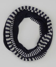 Take a look at this Navy Stripe Infinity Scarf by Betsey Johnson on #zulily today!