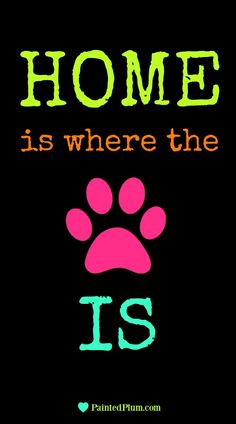 Home is where the paw print is dog quote quotes about pets